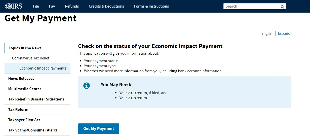 Photo of IRS launched Portal to Verify Status of Stimulus Check