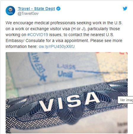 State Travel Dept Tweet