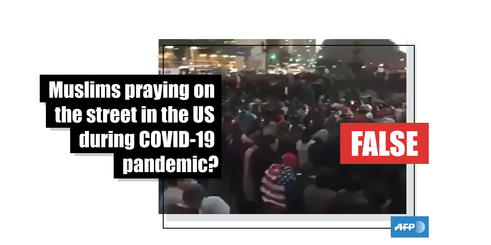 Photo of This video shows a protest in New York City in 2017