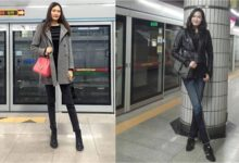 "Photo of A young woman from Mongolia has the ""second longest pair of legs"" in the world"